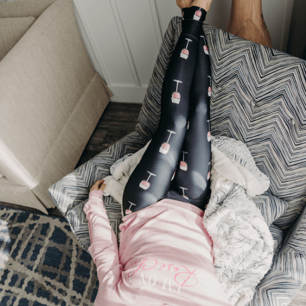 Rosé Wine Leggings