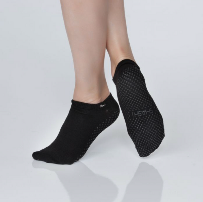 Shashi Basics Regular Toe Grip Sock Black