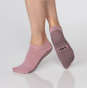 Shashi Basics Grip Sock Rose Gold