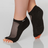 shashi classic grip open toe socks with sparkles