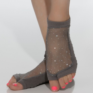 shashi Star Grip Sock - Open Toe charcoal