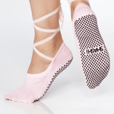 Lace Up Grip Sock- (Barre / Pilates)