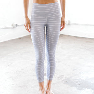 Steel Pinstripe - 7/8 Crop Leggings