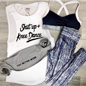 Shut Up and Knee Dance Muscle Tank