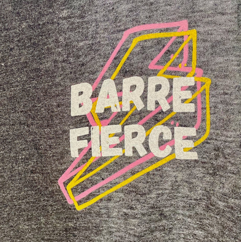 simply workout barre fierce crop tank top heather gray