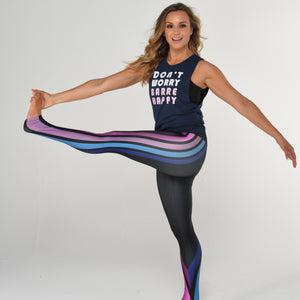 simply workout don't worry barre happy tank