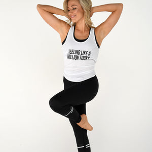 simplyWORKOUT Feeling Like a Million Tucks - Racerback Tank