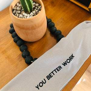 simplyWORKOUT Deluxe Cooling Towel You Better Work