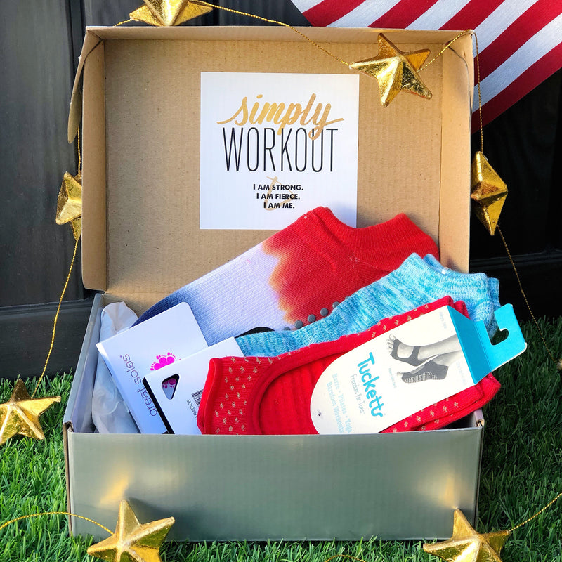 simply workout patriotic sock box bundle
