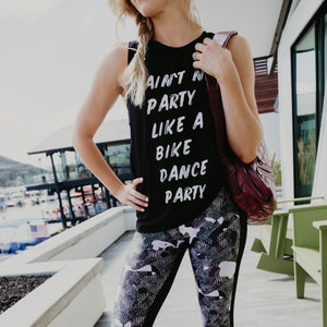simplyworkout bike dance party spin tank