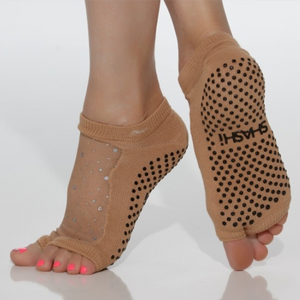 shashi Star Grip Sock - Open Toe nude