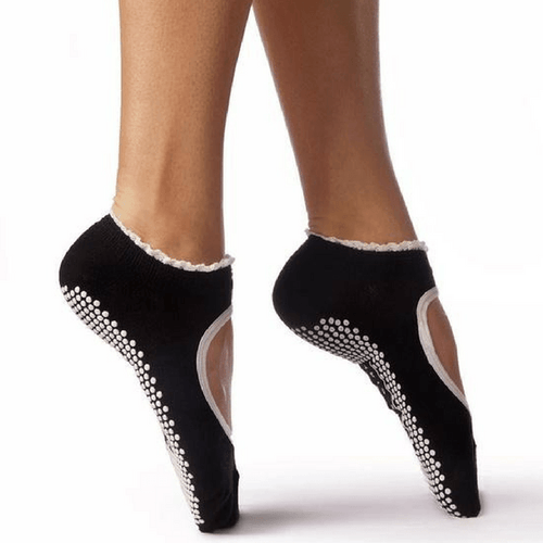 Stella Low-Rise Ruffle Grip Sock (Barre / Pilates)