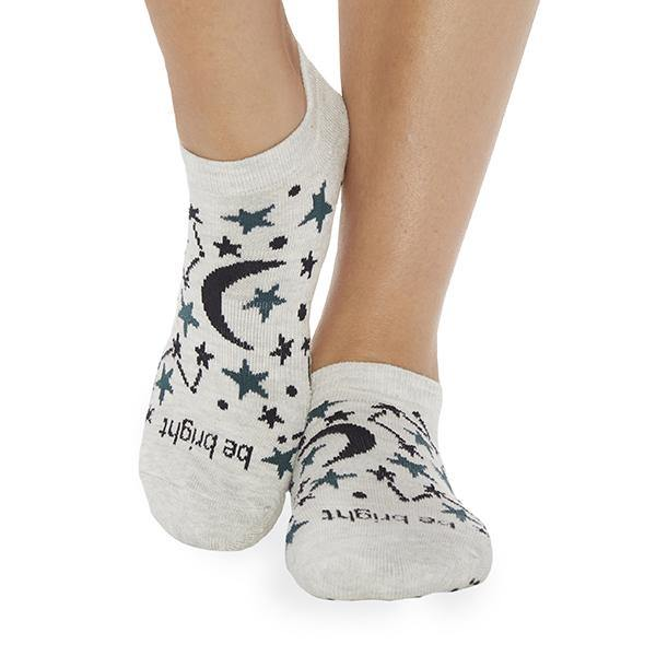 Sticky Be Be Bright Celeste Ivory Grip Socks