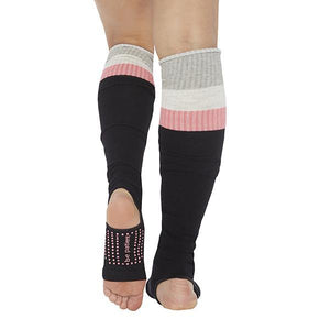 Sticky Be Be Patient Stirrup Grip Leg Warmers Black Melon