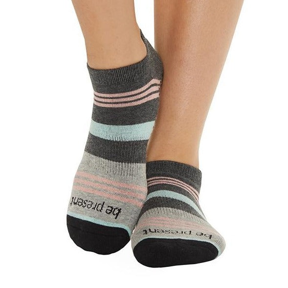 Be Present - Mia Peacock Grip Socks (Barre / Pilates)