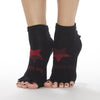 sticky be naughty and nice grip socks half toe