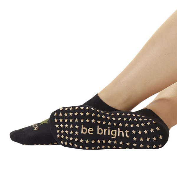 sticky be grip socks be bright in black