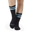Crew Grip Socks - Be Fearless - Black Aqua (Barre / Pilates)