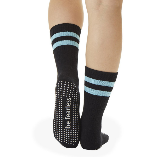 Crew Grip Socks - Be Fearless - Black (Barre / Pilates)