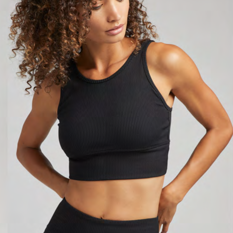 strut this piper bra black rib