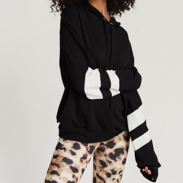 strut this josie sweatshirt black and heather
