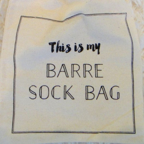 Barre Sock Bag - This is My Barre Sock Bag - simplyWORKOUT
