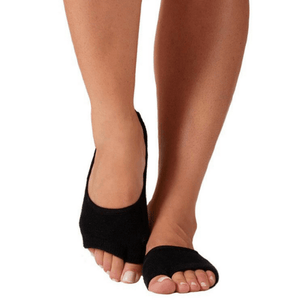 the toeless honey grip sock in black by luckyhoney