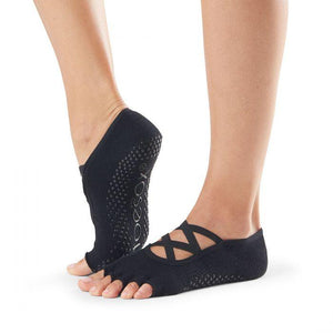 toesox elle grip socks black