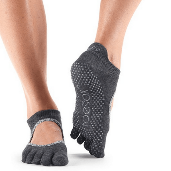 Bellarina Full Toe - Carbon Batik Grip Socks (Barre / Pilates)
