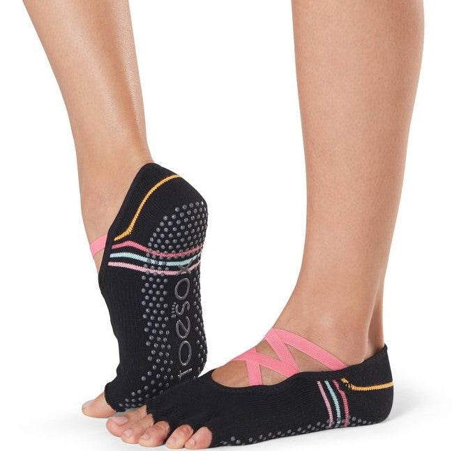 Elle Half Toe Grip Socks - Grip Socks (Barre / Pilates / Yoga)