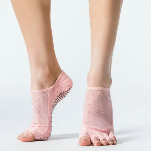 Luna Half Full Toe Grip Socks - Grip Socks (Barre / Pilates / Yoga)