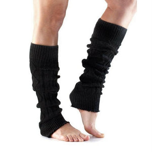 leg warmer toesox cable knit black