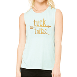 mint tuck tribe workout tank for barre girls by EDJE Activ