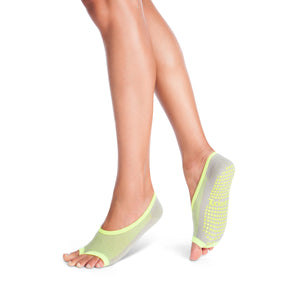 grey lime ballet barre socks