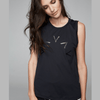 varley rudy tank top in black