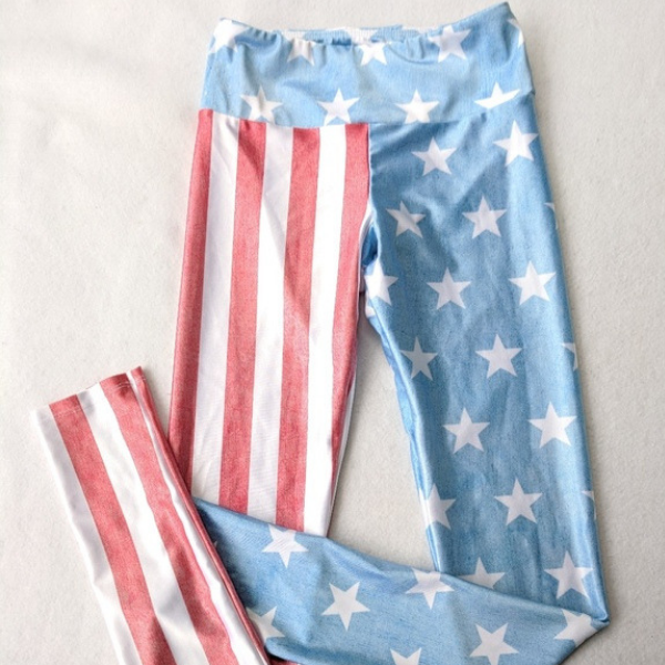 Goldsheep Vintage Flag Leggings