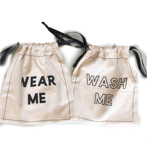 sock bags - Barre Sock Bag - Deluxe - Wash Me / Wear Me Set