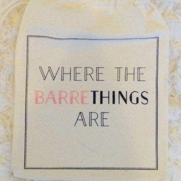 Barre Sock Bag - Where the Barre Things Are - simplyWORKOUT
