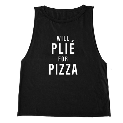 Will Plie for Pizza Tank - Black
