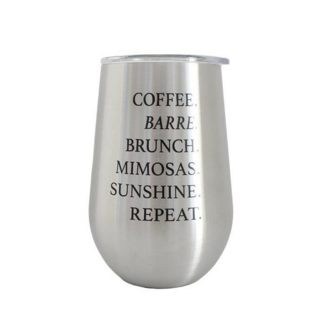 Wine Tumbler - Brushed Silver