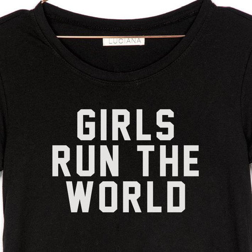 Girls Run the World Muscle Tank - Black