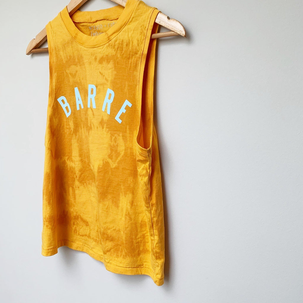 wreath and robe barre muscle amber dye tank