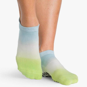 Wyatt Grip Sock Blue Green