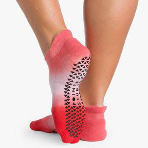Wyatt Grip Sock Pink Red