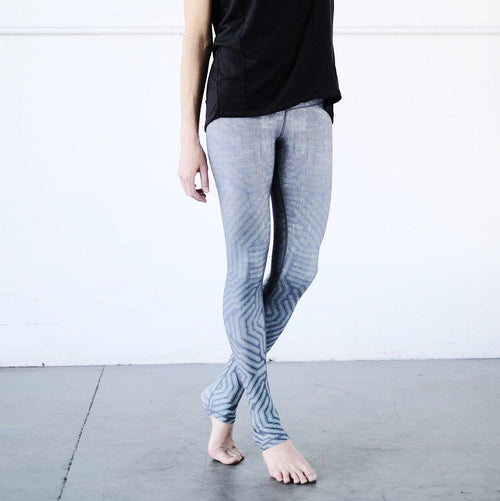 Green Apple Circuit Barefoot Leggings