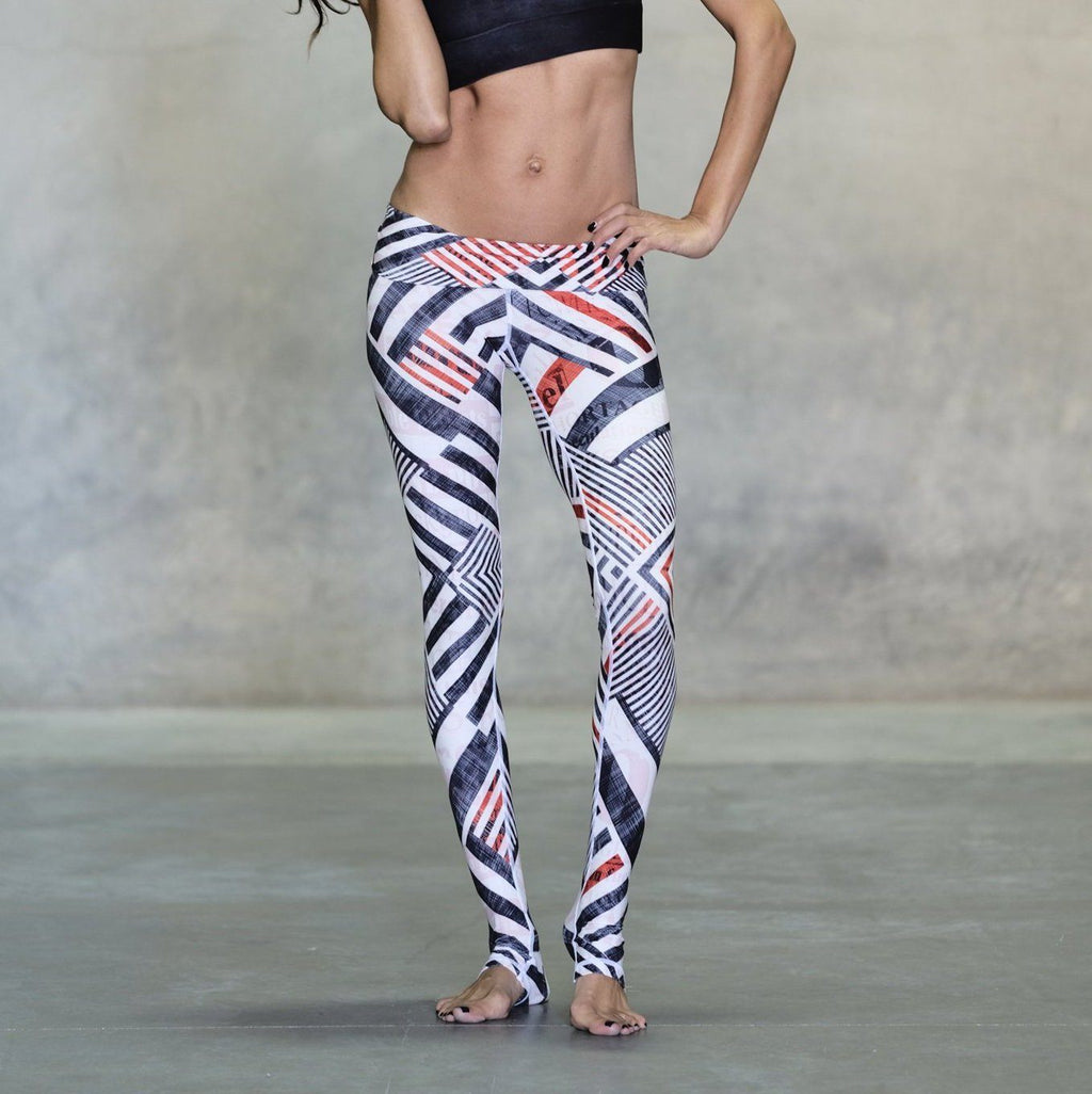 niyama sol white stripe legging