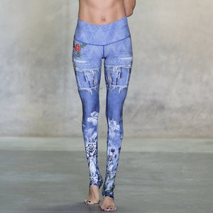 wild flowers niyama sol leggings in blue
