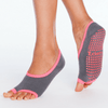 gray pink ballet barre socks