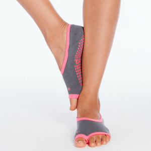 ballet barre socks gray pink