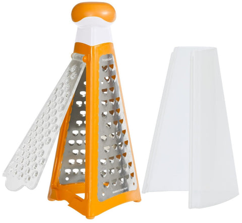 New Progressive # HG-1625 Stainless Zest Mini Pyramid Grater - Yel Grn or Org